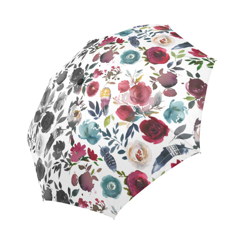 WOW | i Collection Automatic Foldable Designer B&W & Floral Umbrella