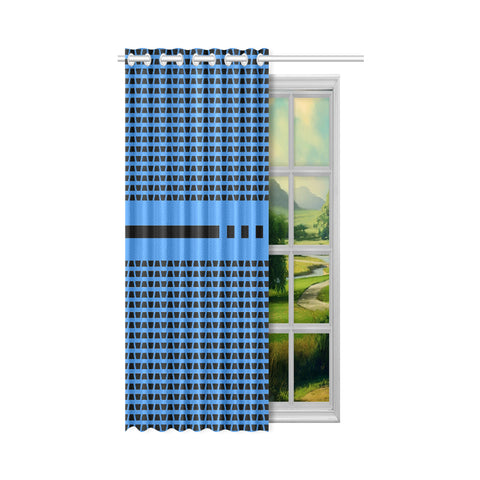 WOW | i Collection Geo Corners 50x84 Blue Window Curtain
