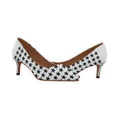 WOW | i Collection Women's Pointy Toe Low Kitten Heel Pumps Star Pattern Shoes
