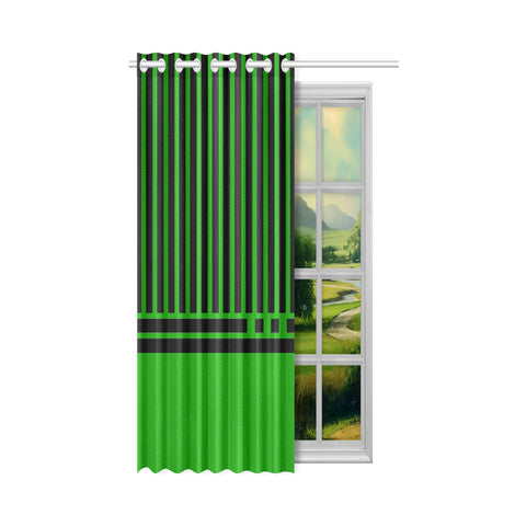 WOW | i Collection Geo Stripes 50x84 Green Window Curtain