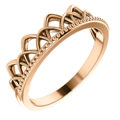 WOW Metal Fashion | Stackable Crown Ring
