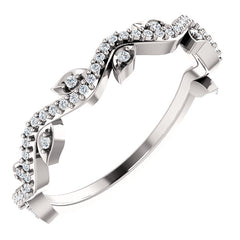 WOW Diamond Fashion | 14K Rose 1/6 CTW Diamond Leaf Ring