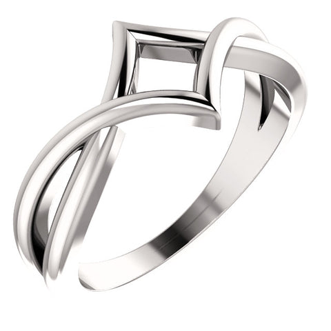 WOW Metal Fashion | Geometric Negative Space Ring