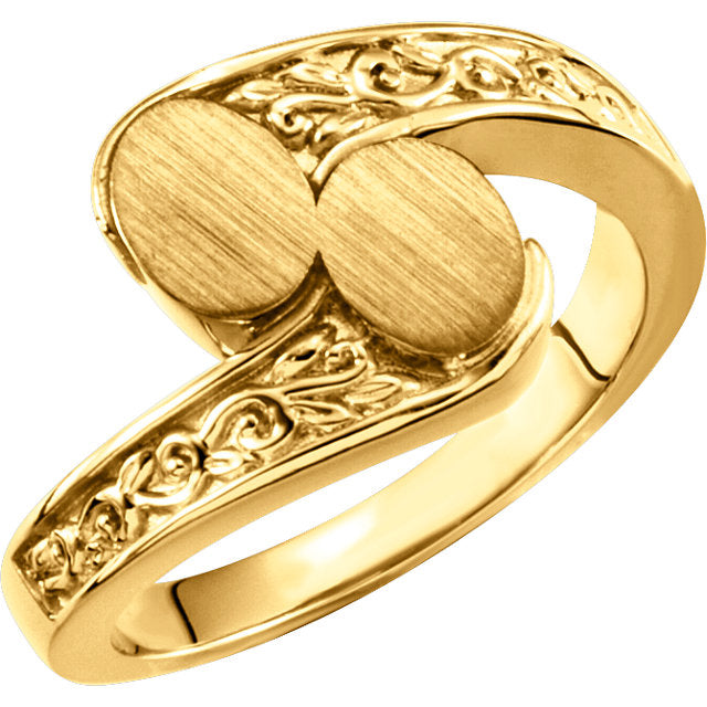 WOW Metal Fashion | Open Back Bypass Signet Ring