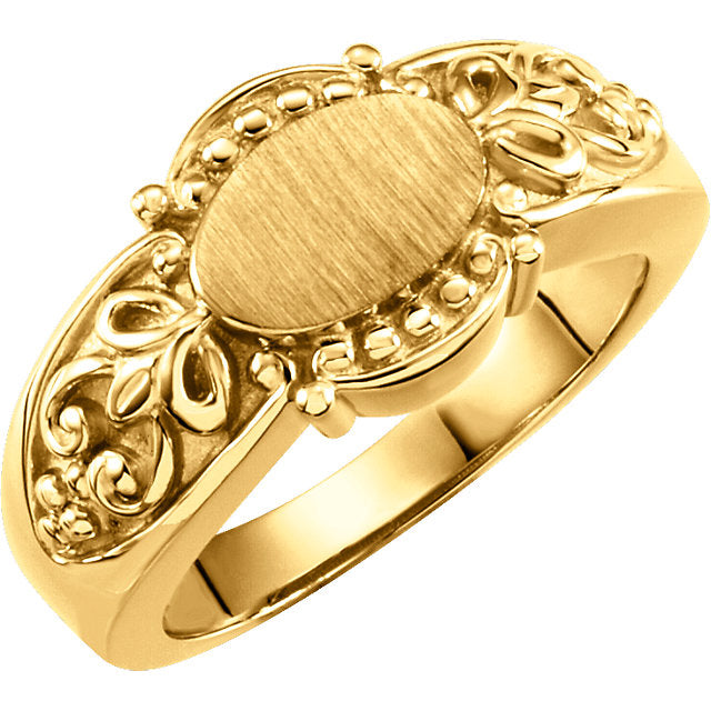 WOW Metal Fashion | Gold Fashion Signet Ring