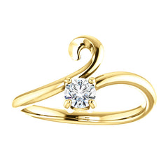WOW Diamond Fashion | 14K Rose 1/4 CTW Diamond Soli Bypass Ring