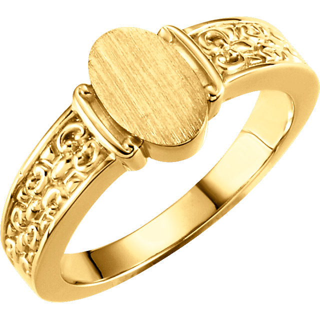 WOW Metal Fashion | Ladies Open Back Signet Ring