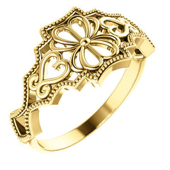 WOW Metal Fashion | Vintage-Inspired Ring - Flower