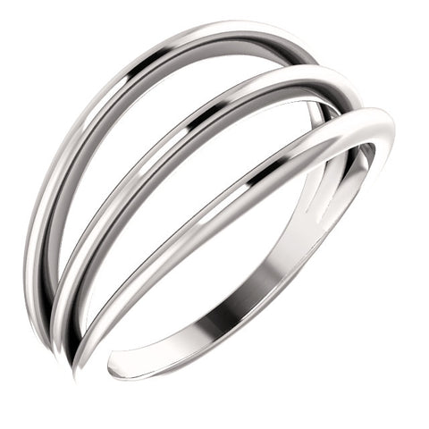 WOW Metal Fashion | 3 Row Negative Space Ring