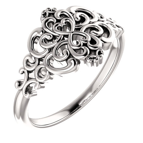WOW Metal Fashion | Vintage Inspired Ring - Heart