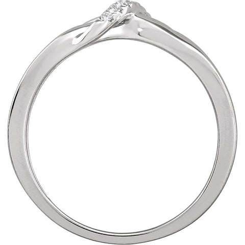 WOW Diamond Fashion | 14K White .05 CTW Diamond Negative Space Ring