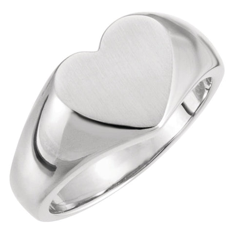WOW Metal Fashion | Open Back Heart Signet Ring