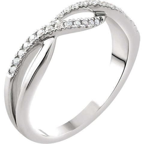 WOW Diamond Fashion | 14K White 1/6 CTW Diamond Criss-Cross Ring