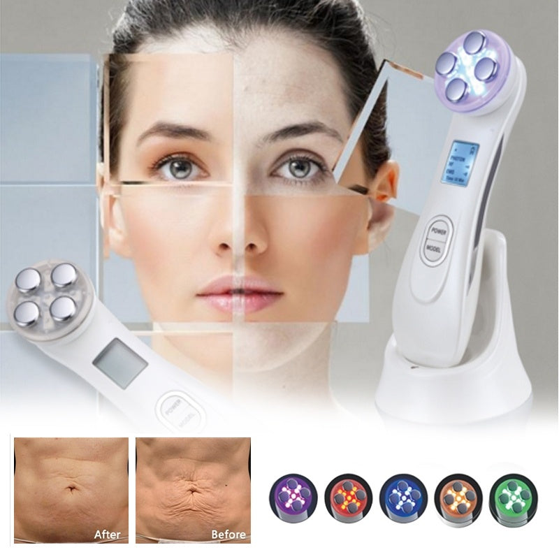 Compact LED Photon RF Smart Facial Beauty Machine Facial Mesotherapy Electroporation