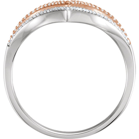 WOW Diamond Fashion | 14K White & Rose 1/6 CTW Diamond