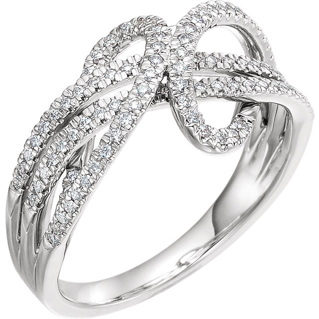 WOW Diamond Fashion | 14K White 1/3 CTW Diamond Ring