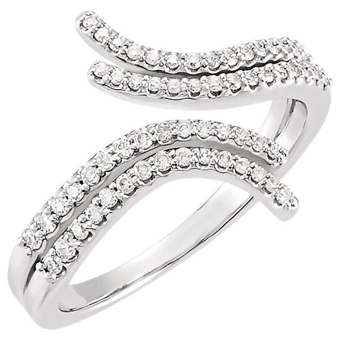 WOW Diamond Fashion | 14K Rose 1/4 CTW Diamond Bypass Bypass Ring