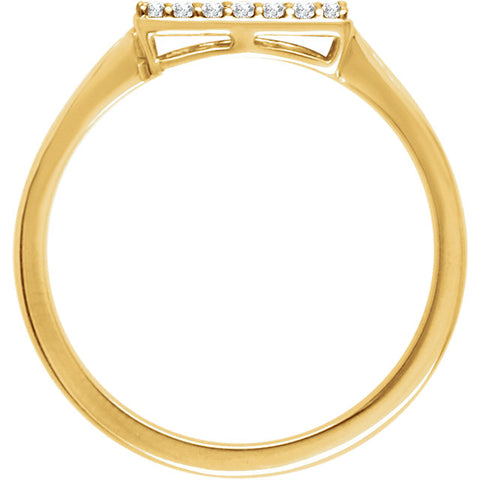 WOW Diamond Fashion | 14K - 1/6 CTW Diamond Rectangle Cluster Ring