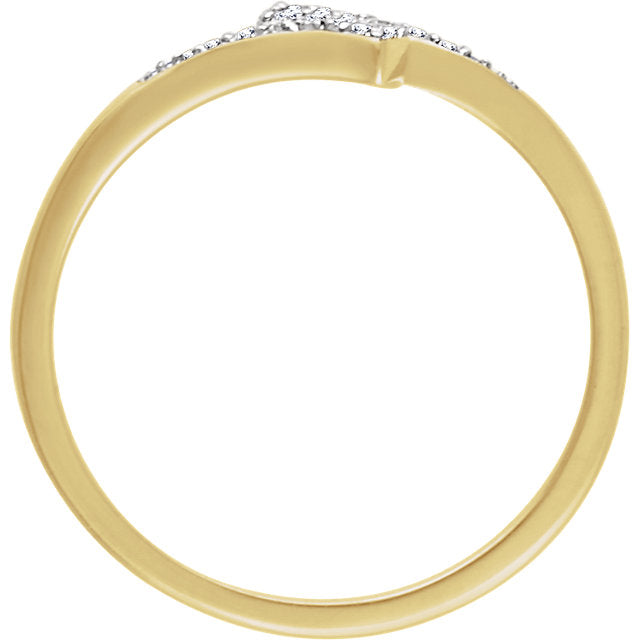 WOW Diamond Fashion | 14K - 1/10 CTW Diamond Accented Bypass Ring
