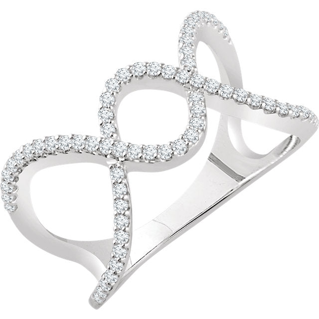 WOW Diamond Fashion | 14K White 1/3 CTW Diamond Freeform Ring