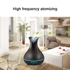 Multicolor LED Light Ultrasonic Air Essential Oil & Water Humidifier with Wood Grain