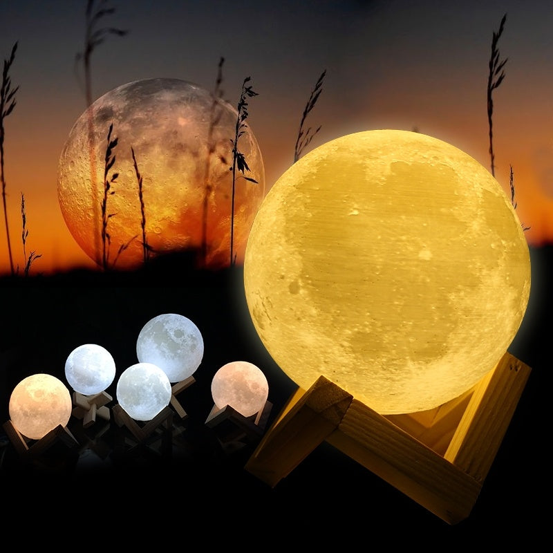 3D LED Light Moon & Earth Lamp