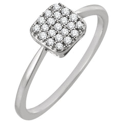 WOW Diamond Fashion | 14K -1/6 CTW Diamond Square Cluster Ring