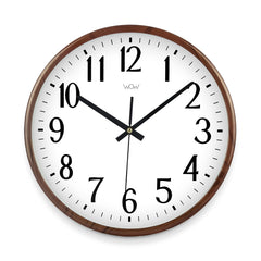 WOW | J Collection Wood Graining 14 Inch Framed Sweep Movement Mute Wall Earth Clock