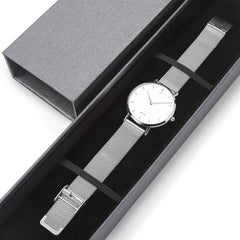 WOW | J Collection Silver Steel Strap Water-resistance Quartz Watch