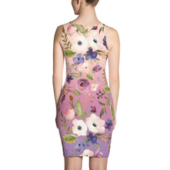 WOW | P Collection Sublimation Cut & Sew Pattern Pink Purple Tone Dress