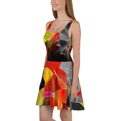 WOW | P Collection Geometiric Color & Black and White Skater Dress