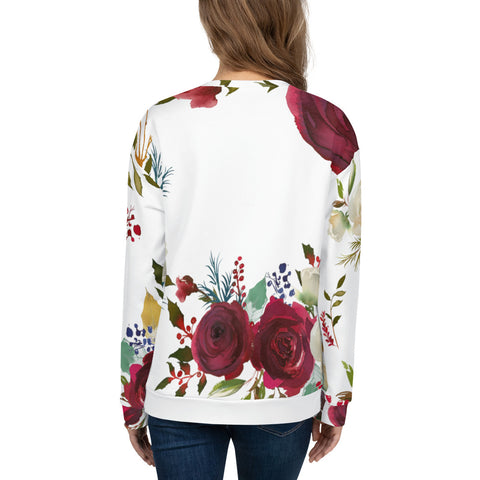 WOW | P Collection Colorful Floral Women's Sweatshirt