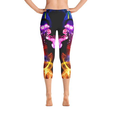 WOW | P Collection Colorful Fire Capri Leggings