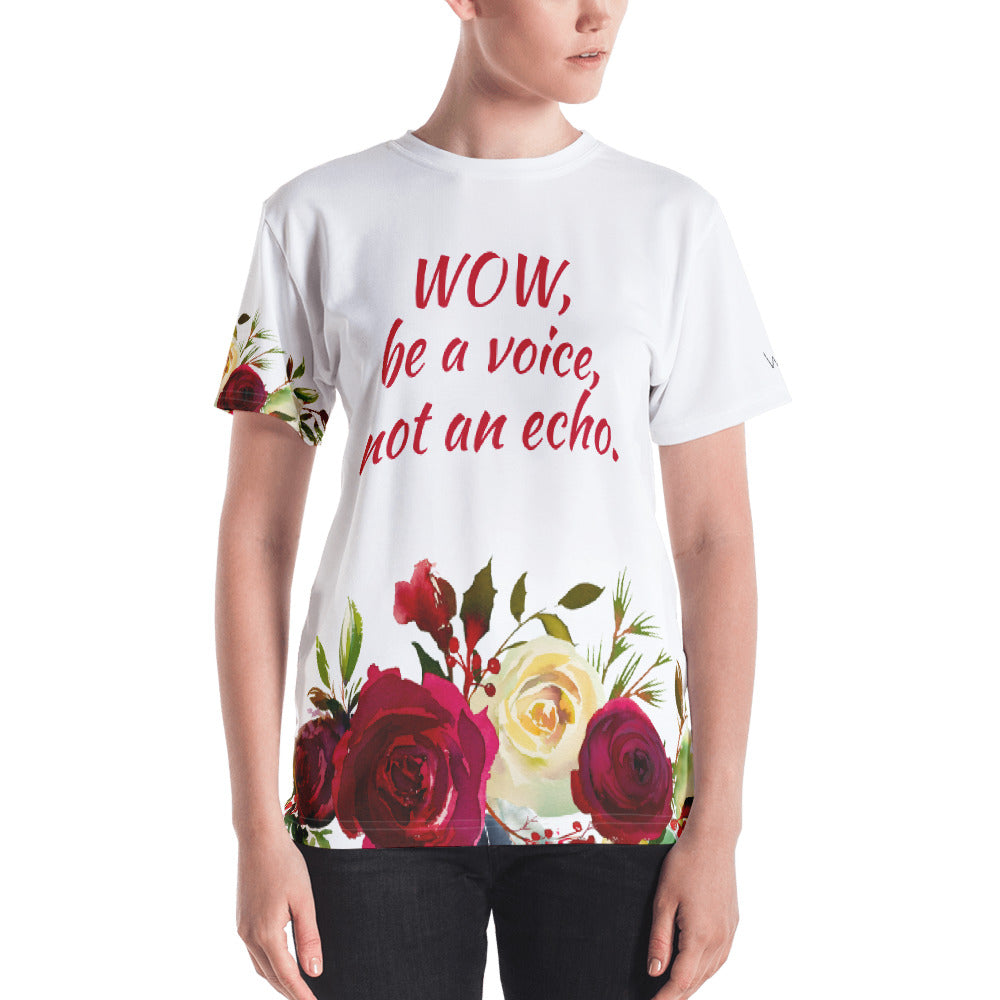 WOW | P Collection Women's Colorful Floral T-shirt