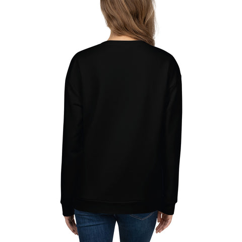 WOW | P Collection Black Colorful Floral Women's Sweatshirt