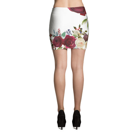 WOW | P Collection White Floral Mini Skirt