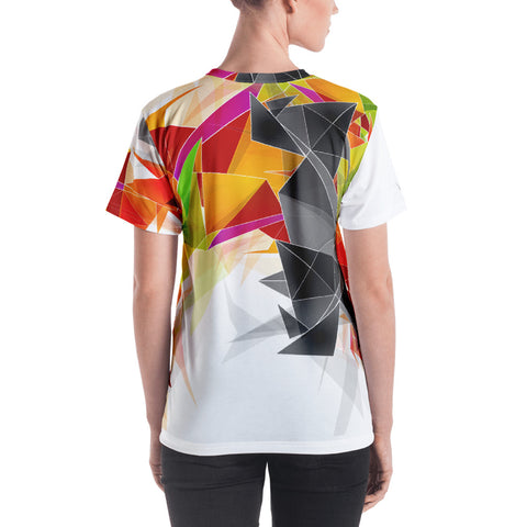 WOW | P Collection Women's Geo Designs Colorful Pattern T-shirt