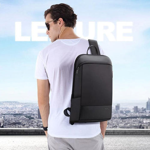 Ultralight Compact Laptop Sleek Black Backpack with Anti-Theft Pocket | FREE SHIPPING