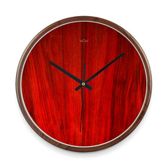 WOW | J Collection Wood Graining 14 Inch Framed Sweep Movement Mute Wall Clock