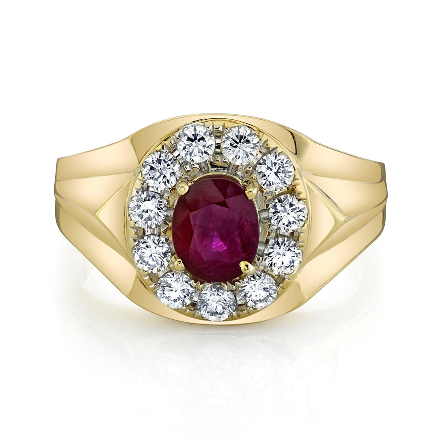 14K 1.42 Cts Burma Ruby 0.89 Cttw VS Diamond Ring - TVON