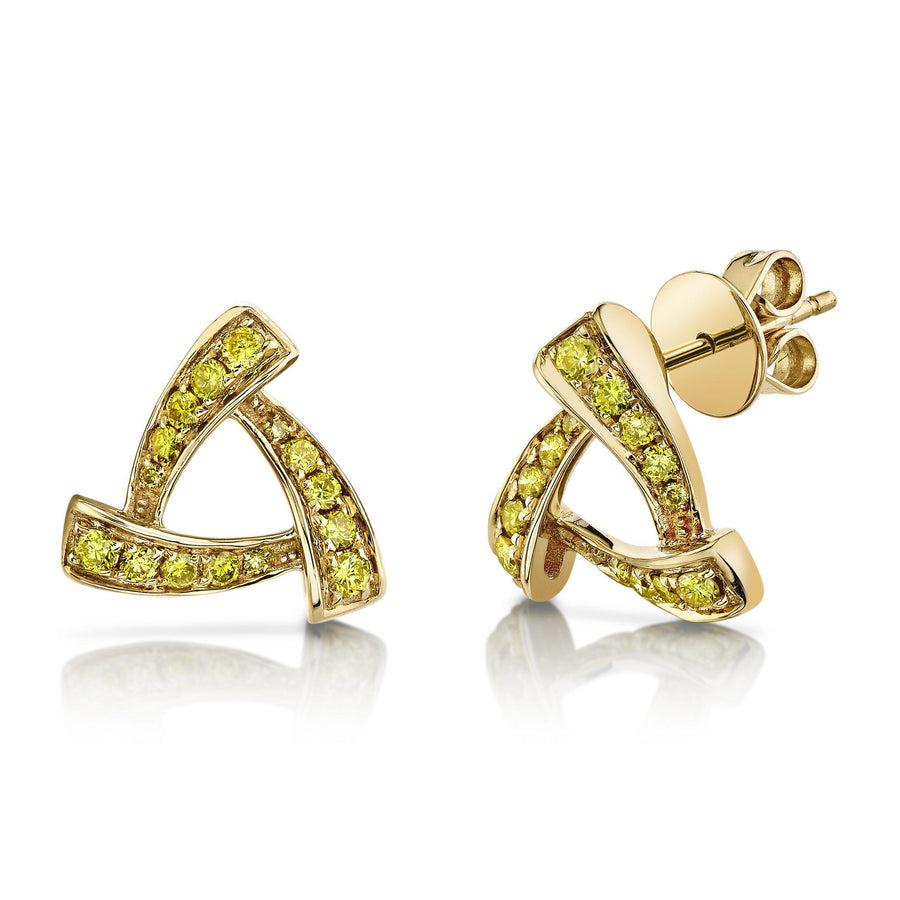14K 0.35 Cttw VS Yellow Diamond Earrings