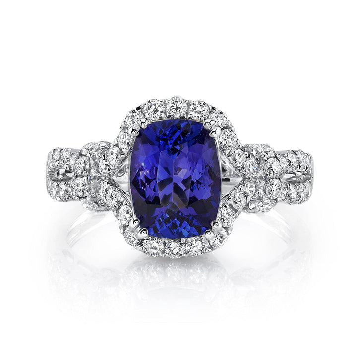 14K 1.80 Cts Tanzanite 0.77 Cttw VS Diamond Ring - TVON