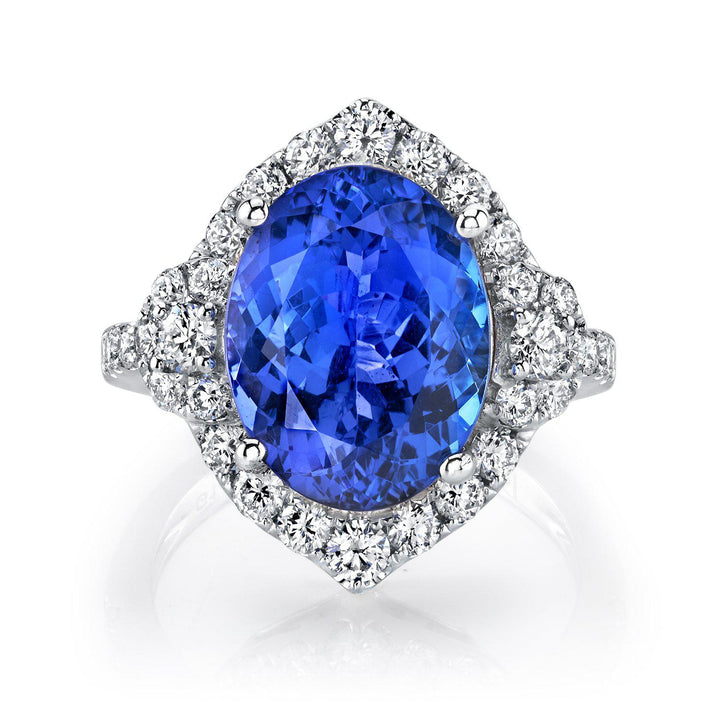 14K 6.00 Cts Tanzanite 1.00 Cttw VS Diamond Ring - TVON