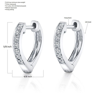 14K 0.24 Cttw VS Diamond Earrings