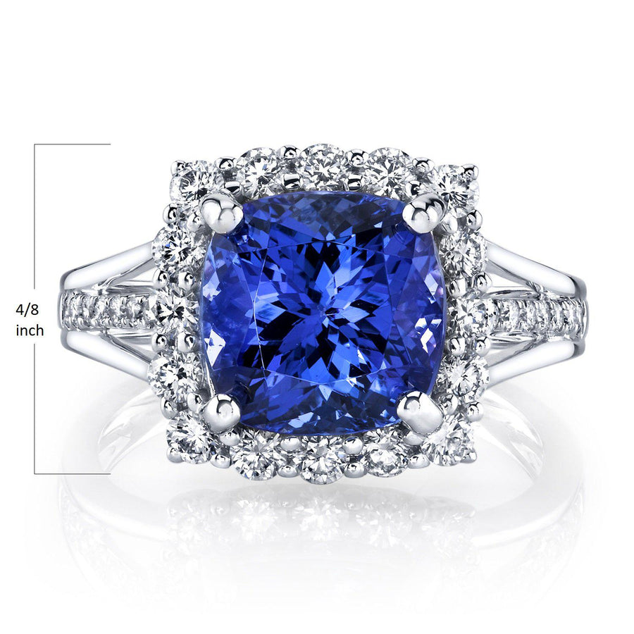 14K 4.08 Cts Tanzanite 0.78 Cttw VS Diamond Ring