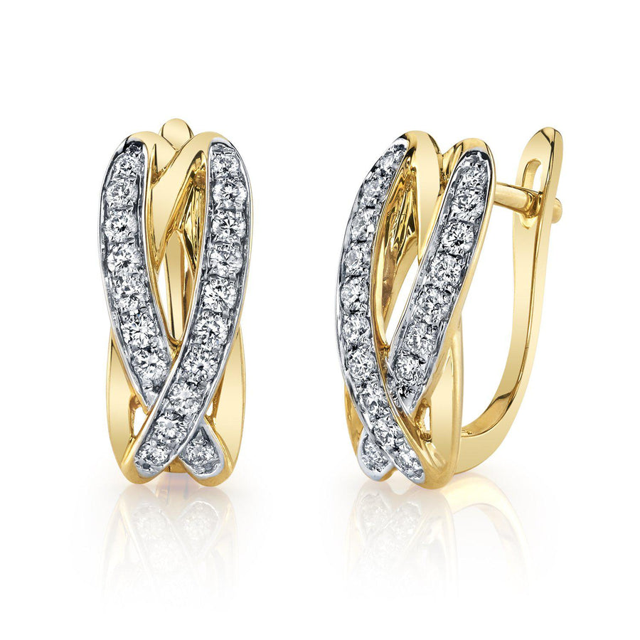 14K 0.44 Cttw VS Diamond Earrings - TVON.com
