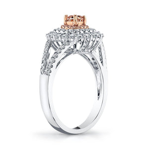 14K 0.24 Cts Pink Diamond 0.67 Cttw VS Diamond Ring