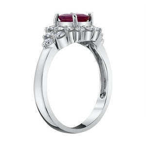 14K 1.05 Cts Burma Ruby 0.70 Cttw VS Diamond Ring