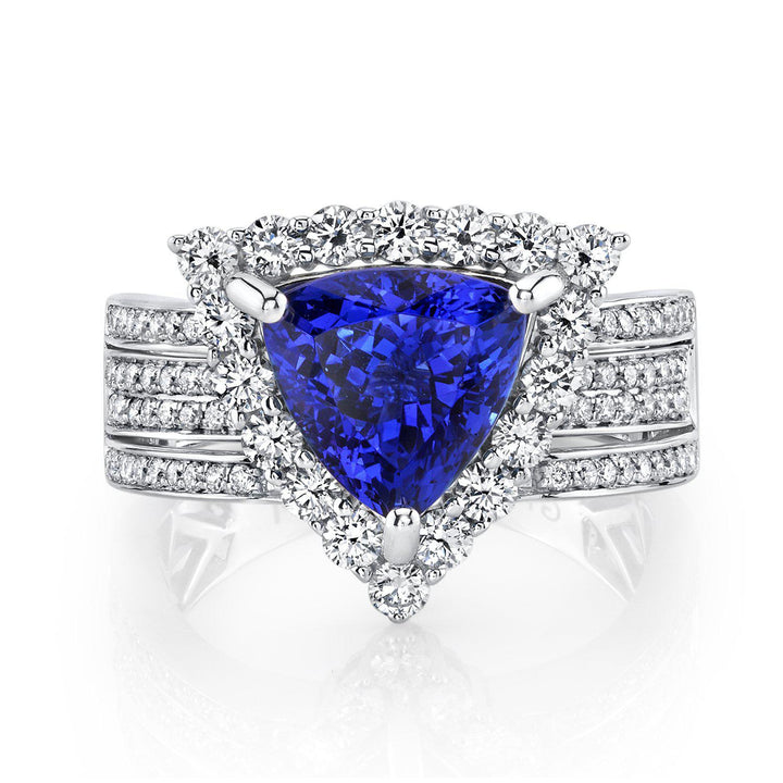 14K 3.09 Cts Tanzanite 1.04 Cttw VS Diamond Ring - TVON