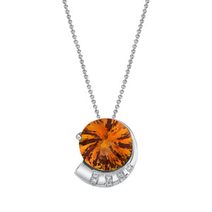 "TVON - 5.8Cts Round Pinwheel Natural Gemstone and Diamond - Signature Design Pendant for Women in 14K Gold with Prong Setting  - FREE 18"" Sterling Silver Chain - P10008 - 5"
